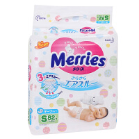 花王婴儿纸尿裤/尿不湿 S82片(4-8kg)彩标