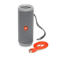JBL Flip4便携蓝牙音箱无线小音响重低音HIFI 防水户外无线音箱 灰
