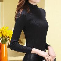 2017春装打底新款韩版加厚半高领修身显瘦针织打底衫毛衣女装fr15082