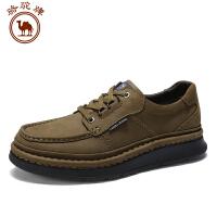 骆驼牌 男鞋新品日常系带休闲鞋男士舒适耐磨手工缝制