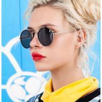 墨镜女圆脸大框偏光太阳镜潮牌 个性复古圆眼镜   时尚简洁墨镜  支持礼品卡