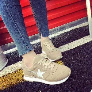 【17年春季新款】 韩版时尚运动鞋系带厚底耐磨防滑跑步鞋女士休闲鞋单鞋学生鞋