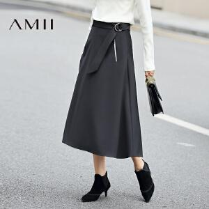 【AMII超级大牌日】[极简主义]2017年春新款宽松不规则纯色中长款半身裙女11693321