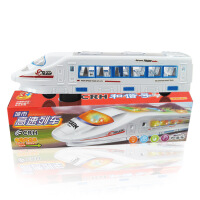 【领券立减50元】儿童玩具地摊万向音乐闪光电动车塑胶仿真和谐号高铁火车模型