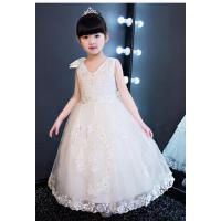 儿童礼服公主裙 婚纱花童裙女童六一主持钢琴演出服长裙晚礼服