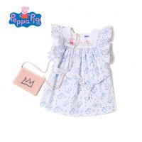 [满200减100]小猪佩奇女童装2017夏季新款纯棉甜美满印佩奇时尚娃娃衫衬衫