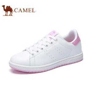 Camel/骆驼女鞋 2017春夏新款小白鞋女韩版运动系带百搭学生休闲板鞋