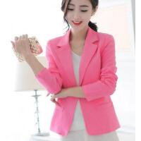 小西装女 外套 新款韩版修身显瘦长袖小西装女装外套大码西服上衣