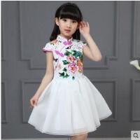 儿童旗袍女童唐装公主裙小女孩中国风连衣裙演出服礼服大儿童服装支持礼品卡支付