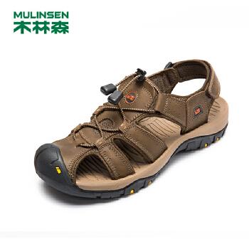 木林森男凉鞋 户外运动休闲男鞋 夏季新款防撞防滑透气沙滩鞋正品21522108