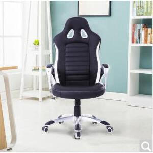 未蓝生活电脑椅办公椅人体工学老板椅家用电竞椅皮椅可躺转椅 黑色 五星尼龙脚