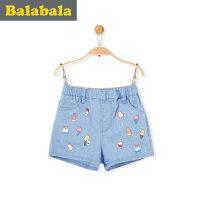 巴拉巴拉童装儿童短裤女宝宝童裤休闲裤2017夏季新款小童女童裤子
