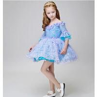 新年时尚新款公主裙儿童礼服裙 宝宝生日花童迪士尼演出服