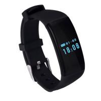 智能心率手环运动计步来电提醒手表睡眠监测防水安卓苹果IOS 黑