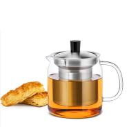 尚明玻璃茶壶花茶壶 耐热玻璃茶具不锈钢过滤加厚玻璃茶壶纯手工泡茶壶 (镇店之宝)700ml S046 1200ML