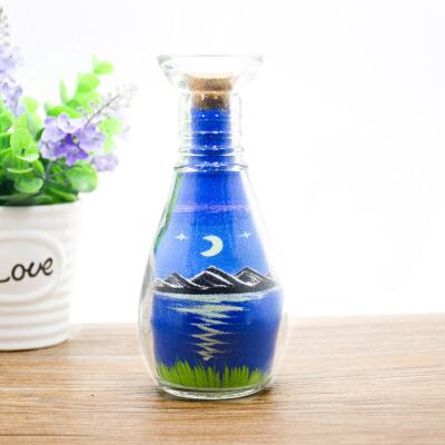 diy沙瓶画沙画瓶水滴瓶男女朋友生日礼物 毕业礼物 彩色风景沙画瓶