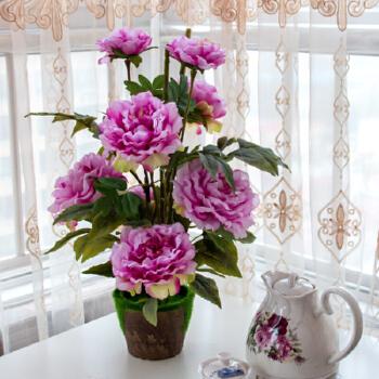 新款大牡丹欧式仿真花假花装饰花艺客厅餐桌装饰摆件