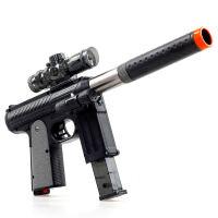 宜佳达 玩具枪 可发射水晶弹子弹 连发软弹 电动狙击枪玩具 YJD504黄河M9手枪