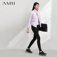 【AMII超级大牌日】[极简主义]2016冬新品青春活力立领口袋弧形下摆羽绒服女11480199