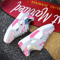 新百伦阿迪 2017春季新款帆布鞋韩版印花情侣鞋平底板鞋潮流运动休闲鞋男女单鞋