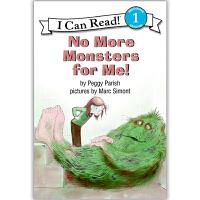 原版儿童英文绘本I Can Read 汪培�E第二阶段之No More Monsters for Me! 没有更多的怪物!送音频请联系客服