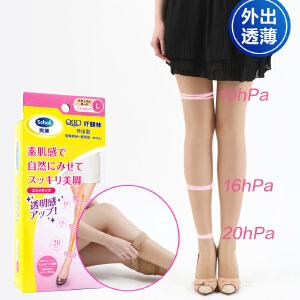 爽健Dr.Scholl 日本qtto纤腿袜 外出型透薄自然色美腿压力袜