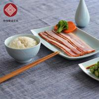 格物 青莲如玉碗餐具健康创意陶瓷米饭碗汤碗甜品沙拉碗家用中式
