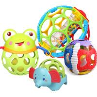 美贝乐 新生婴儿手抓球3-6-12个月宝宝0-1岁声光健身球益智摇铃牙胶玩具