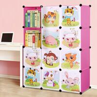 林仕屋书柜儿童书架自由组合玩具收纳柜简易储物置物架柜子