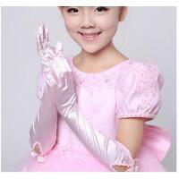 儿童婚纱 花童礼服手套 女童公主裙弹力手套 长款白色公主手套