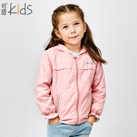 初语童装 女童 休闲百搭纯色宽松风衣外套 T5306320012
