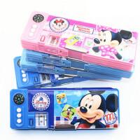 联众迪士尼01066米奇塑料文具盒创意卡通多功能男女小学生铅笔盒