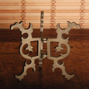 清 白铜折叠水盂架