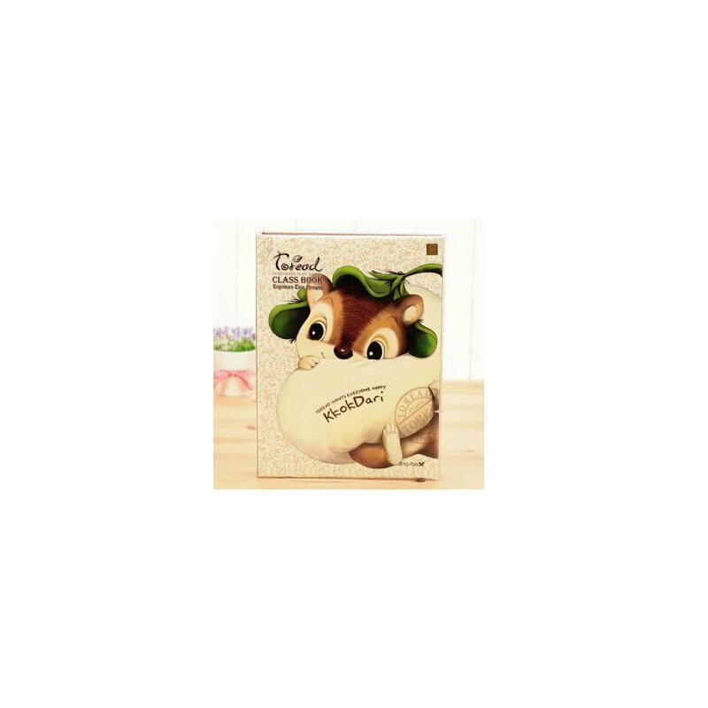 联华多丽猫 卡通可爱动物同学录韩版复古 创意毕业纪念册_松鼠