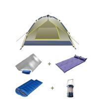 全自动家庭套装野外露营自驾游2人防雨双层野营帐篷户外3-4人