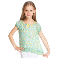 巴拉巴拉童装夏季女童满印水果短袖衬衫