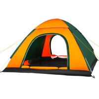 户外野外露营套装全自动弹簧帐篷3-4人家庭防雨双人双层