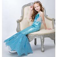 女童表演礼服迪士尼公主裙  新款儿童美人鱼公主裙演出服