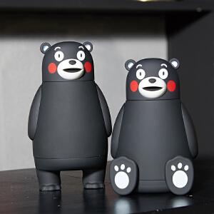 熊本熊保温杯3D水杯子日本原版正品KUMAMON酷MA萌不锈钢  GZ1211