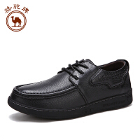 骆驼牌男鞋 秋冬新品 日常休闲皮鞋男士系带舒适单鞋男