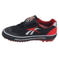 双星足球鞋时尚训练鞋儿童足球鞋小飓风碎钉男女成人足球运动鞋黑红色