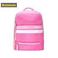 巴拉巴拉女童学生书包儿童双肩包秋装2017新款中大童减负童装背包