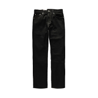 Levi's/李维斯牛仔裤男黑色牛仔裤505中腰拉链直筒牛仔长裤