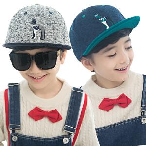 kk树儿童鸭舌帽春秋保暖帽子男童帽子时尚个性小孩童帽潮