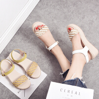 奥古狮登2017夏季新款凉鞋女坡跟时尚女鞋