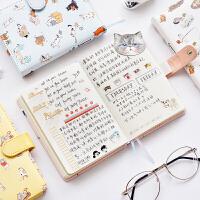 【包邮】三年二班可爱皮面笔记本文具手账本学生小清新记事本子日式手帐本