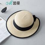 茵曼遮阳帽女防晒渔夫帽休闲百搭帽子户外遮阳帽夏季新款沙滩帽【1872191073】
