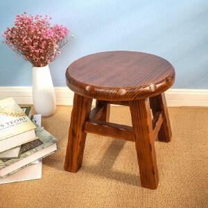 御目 凳子 小凳子实木小圆凳子创意简约小板凳家用矮凳时尚换鞋凳小木凳子创意家具