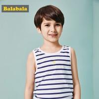 巴拉巴拉童装男童背心中大童无袖上衣2017夏装新款小孩儿童男