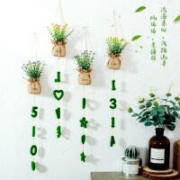 御目 挂件 创意家居宿舍墙面装饰品挂件个性温馨房间客厅卧室仿真花花篮壁挂挂饰